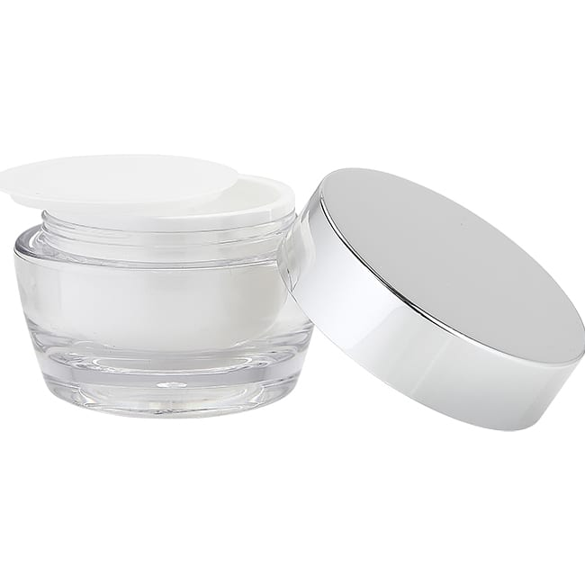 Clear Jar with Silver Cap   J17   APC Packaging