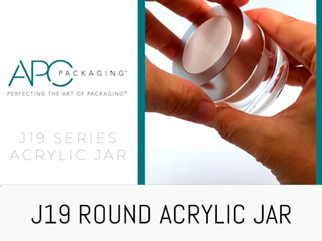 ROUND ACRYLIC JAR J19