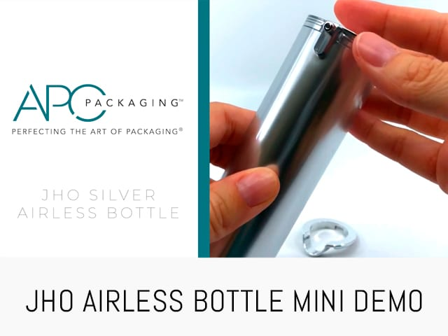 AIRLESS SILVER BOTTLE