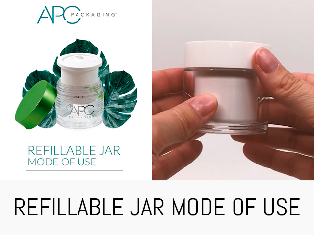 REFILLABLE JAR MODE OF USE