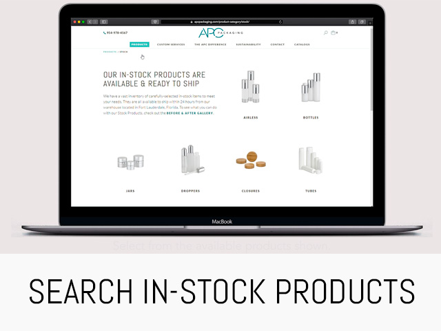 SEARCH UNDECORATES STOCK PACKAGING PRODUCTS
